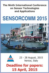 SENSORCOMM' 2015 Conference banner